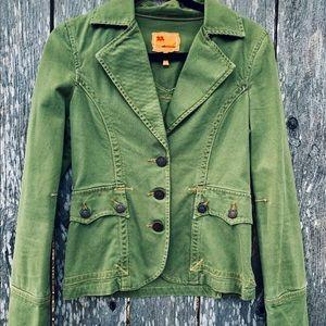 .anthropologie twill twenty two jacket green 1223